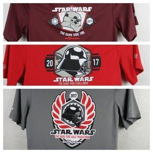 3 RunDisney Star Wars Dark Side Challenge Shirts